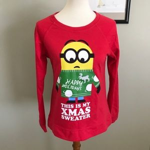 Despicable me holiday sweater size L